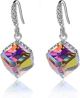 Best rainbow hoop earrings with swarovski crystals Reviews