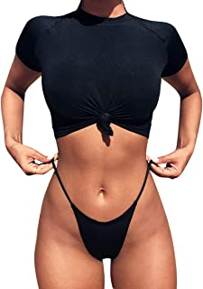 short sleeve swimsuit top
