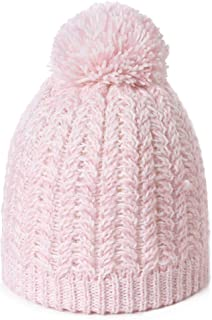Jeff & Aimy Women's Acrylic Knitted Slouch Pom Beanie Hat Warm
