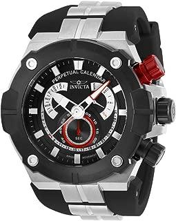 Invicta Men's Sea Hunter Stainless Steel Quartz Watch with Silicone Strap, Black, 31 (Model: 29952)