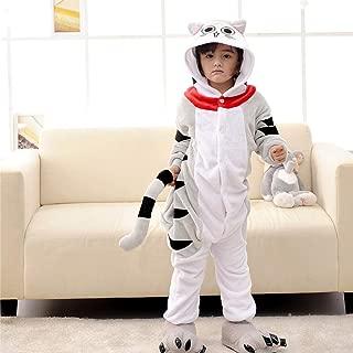 Children S Pajamas Cartoon New Jumpsuit Flannel Dinosaur Animal Play Suit Long Hyococ (Color : Silver, Size : 13)