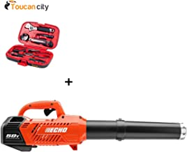 Toucan City Echo 145 MPH 550 CFM Variable-Speed Turbo 58-Volt Brushless Lithium-Ion Cordless Leaf Blower Tool Only CPLB-58VBT Tool kit (9-Piece)