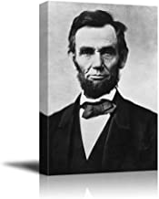 wall26 - Portrait of Abraham Lincoln (16th President of The United States) - American Presidents Series - Canvas Wall Art Gallery Wrap Ready to Hang - 12x18 inches