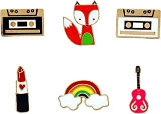 Herinos Cartoon Enamel Brooch Pin Set Cute Brooches Funny Christmas Badges Patches Clothes/Bags/Backpacks/Jackets