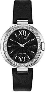 Citizen EX1500-01E Women's Capella Black Dial Diamond Watch