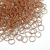 1000 Mini Rubber Bands Soft Elastic Bands for Kid Hair Braids Hair (Brown)