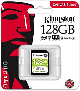 Kingston Canvas Select 128GB SDHC Class 10 SD Memory Card UHS-I 80MB/s