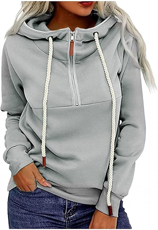 LEIYAN Womens Cowl Neck Hoodies Pullover Lightweight Long Sleeve Loose Fit Sweatshirts Sports Hooded Jackets