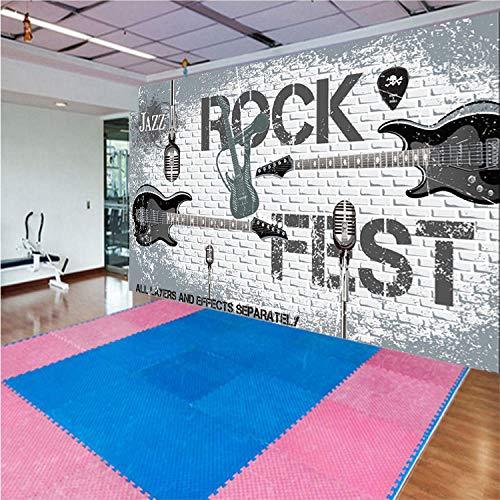 Grote Mural Europese 3D Driedimensionale Gereedschap Achtergrond Muur Papier Engels Alfabet Latijnse Dans Klas Grote Mural Wallpaper Grijs Muursticker Border Zelfklevende Baksteen badjas 250cm×170cm