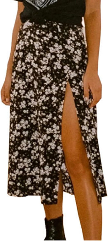 Women Maxi High Waisted Skirt Summer Ranking TOP9 Printed Wrap Side Boho Midi Ranking TOP6