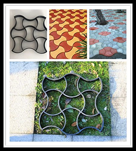 Concrete Mold-EliveBuy Paver molds- Walk Maker Stepping Stone Mold Concrete Pavement Garden Path Wall Paving Mold (Large Size: 19.68x19.68x1.6inch)