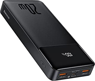 Baseus 20000mAh Power Bank, PD 20W Bärbar Laddare USB C Powerbank 20000mAh Snabbladdning Extern Batteripack LED Display Bä...