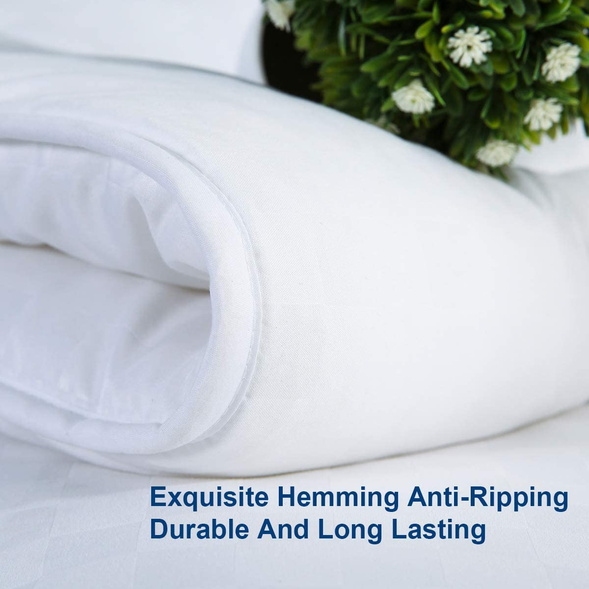 Quilted Duvet Insert with 300GSM Plush Microfiber Fill and Corner Tabs,Machine Washable,White,King White Down Alternative Comforter,Hypoallergenic Lightweight All Season Hotel Bed Comforter