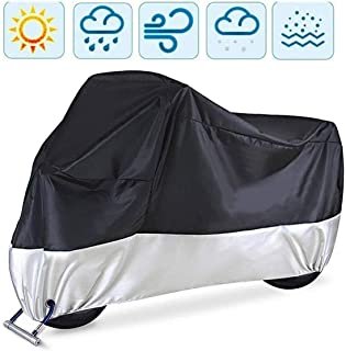 Motorcycle Cover with Lock Holes All Season Waterproof Rain Dust Sun Outdoor Protection Storage Bag Oxford Durable Tear Pr...