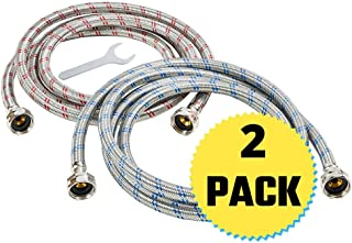 Washing Machine Hoses – Braided Stainless Steel Water Supply Line – Universal..