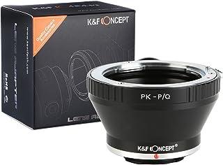 K&F Concept® マウントアダプター Pentax K PKマウントレンズ- Pentax Q P/Qマウントカメラ装着用レンズアダプター PK-P/Qマウント変換アダプター 三脚座付き