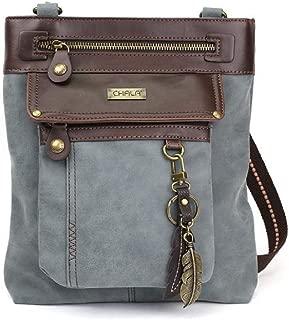 GEMINI Crossbody PU Leather Messenger Bag Indigo