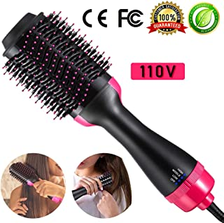 One Step Hair Dryer Brush 4-in-1 Hot Air Brush Hair Curler Hair Straightener Curling Ionic Hair Brush Blow Dryer Ionic Salon Hair Styling Tool