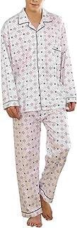 Pijama de Dos Piezas Camisa de Manga Largo Y Pantalones Largo Cómodo Y Elegante Conjuntos de Pijama Largo Adecuado para El Hogar Y El Ocio