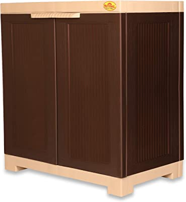 National Planet Power Small Cupboard,Brown & Beige