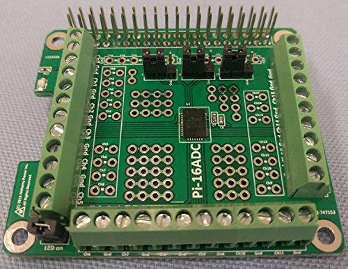Alchemy Power Inc. Pi-16ADC 16 Kanal, 16 Bit Analog-Digital-Wandler (ADC) für Raspberry-Pi. Inkl. MwSt.
