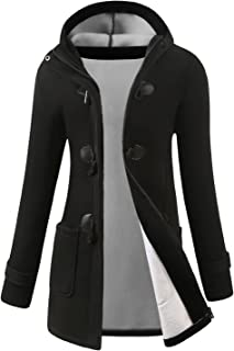 VOGRYE Womens Winter Fashion Outdoor Warm Wool Blended Classic Pea Coat Jacket (FBA)