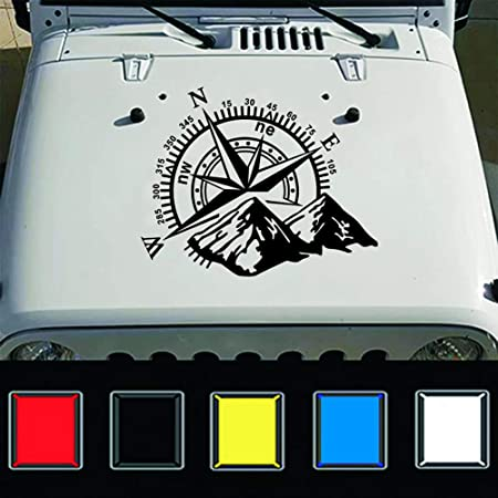 Warmberl Auto Aufkleber Kunst Design Kompass Navigation Offroad Offroad Fahrzeug Aufkleber Aufkleber Jeep Aufkleber Auto Mode Dekoration Auto