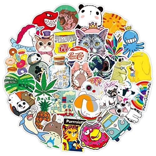 YRSM Pequeñas pegatinas de graffiti frescas, impermeables, extraíbles, para cuaderno, scooter, taza, nevera, carro, 100 unidades