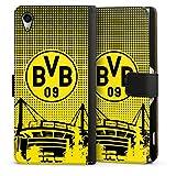 DeinDesign Etui Compatible avec Sony Xperia Z2 Etui Folio Etui magnetique Stade BVB Borussia...