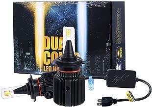2018 J+ H7 High Beam & Low Beam headlamp,Fog Light,Gold White Dual Color LED with 8000LM Souel LED Chips,LED Headlight Conversion Kit Halogen Head Light and Fog Light,3000K/6500K,H7-1 Yr Warranty