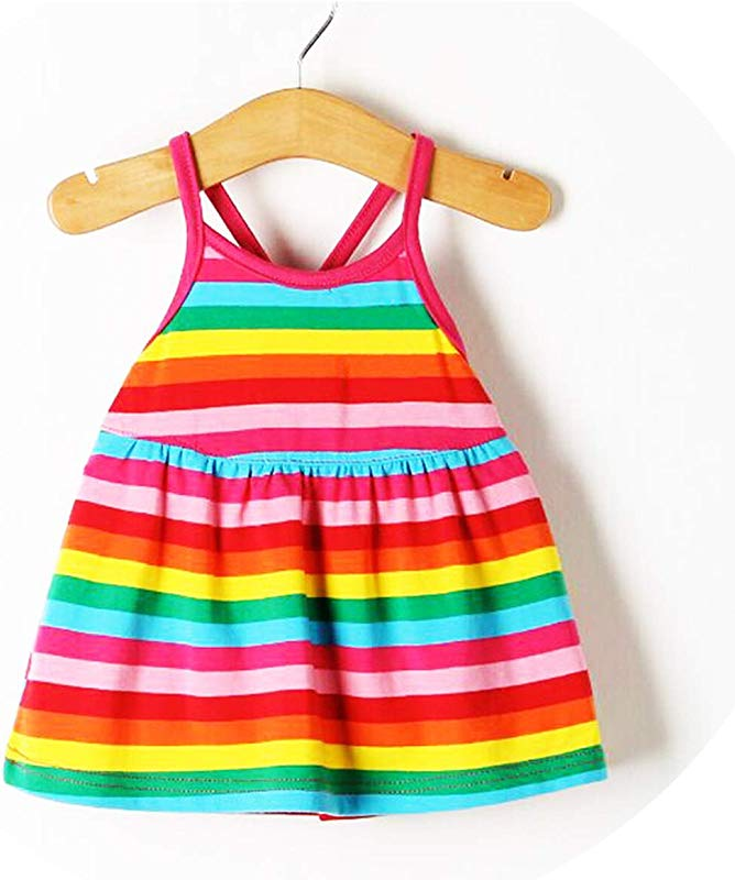 2019 New Cute Princess Dress Baby Girl Sleeveless Cool Summer Dress H8P6 Red 9M