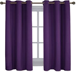 dark purple bedroom curtains