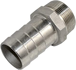 SS304 Thread Hose Pipe Fitting Male x Barb Hose Tail Stainless Steel Connector NPT (1-1/2