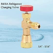 1/4'' - 5/16'' Brass Refrigerant Charging Valve, Fluoride Safety Valve, Flow Control Valve for Refrigerant R410A,Air Conditioner Accessories