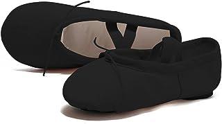 WELOVE Women's Canvas Ballet Shoes/Ballet Slipper/Dance Shoe/Yoga Shoes Split Sole Flats