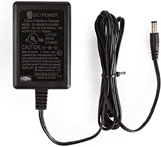 """LotFancy 12V 1A Battery Charger, Compatible with Razor Power Core E90, ePunk, XLR8R, Electric Scream Machine, Kids Ride On Toys, Electric Scooter Power Supply Adapter, UL Listed, 71"""" Cable"""