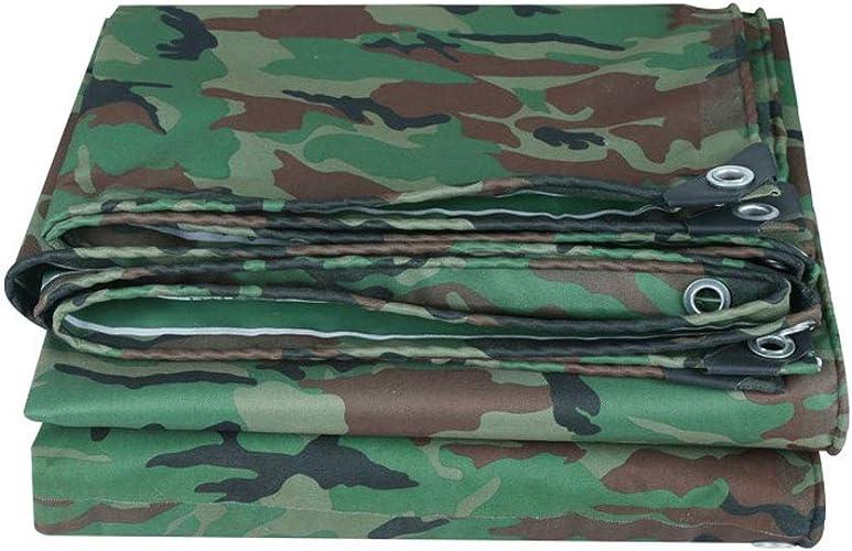 QLLYB Bache de Camouflage en Plein air Imperméable à l'eau Jungle épaisse Militaire PVC Pluie Tissu Oxford Toile de Prougeection Solaire Ultra légère, différentes Tailles (Taille   6m6m)