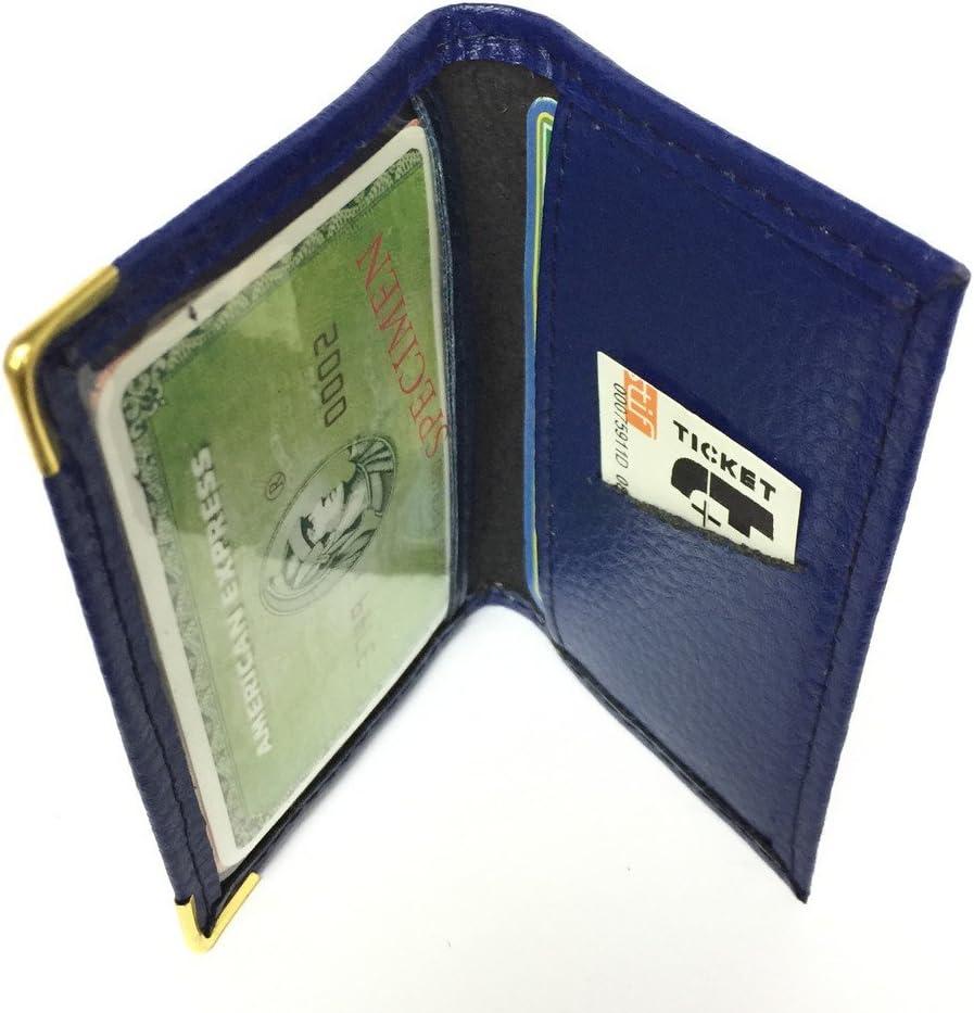Bleu KADOR Porte-Carte Simple 1 /à 2 Carte Compact en Cuir Plusieurs Couleur Homme et Femme