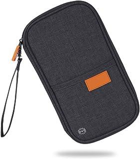 RFID Blocking Passport Holder Travel Passport Wallet Waterproof Ticket Holder Journey Case Family Document Organizer Black