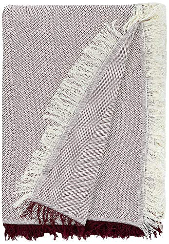 Martina Home Espiga - Foulard Multiusos, Crudo Granate, 230 x 260 cm