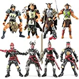 Bvrorere Knight and Orcs Warriors Action Figures Toys Soldiers Playset with Military Weapons Accessories for Kids Boys Girls,8PCS,Best Age 6 7 8 9 10