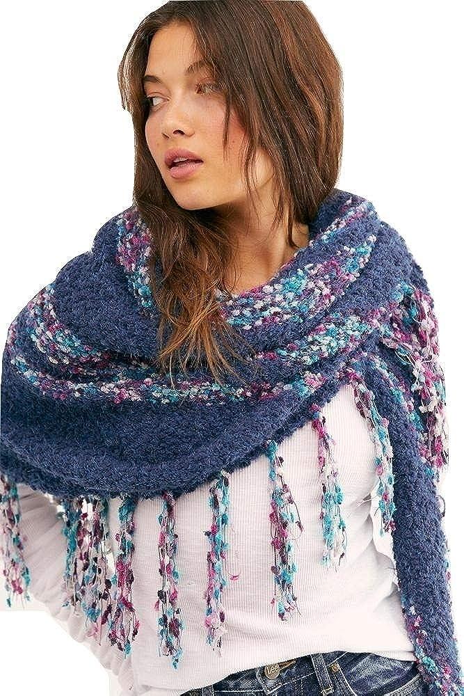 Free People Womens Fringe Fashion Shawl/Wrap
