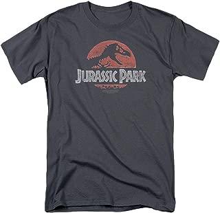 Popfunk Jurassic Park Logo Adult T Shirt & Stickers