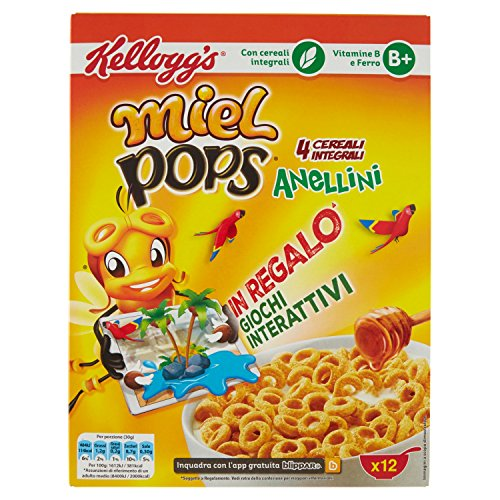 Kellogg's Miel Pops Anellini - 375 g