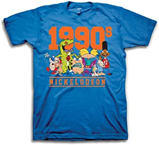 Mens 90's Classic Shirt - Rugrats, Invader Zim, Ren & Stimpy, and Hey Arnold Vintage T-Shirt