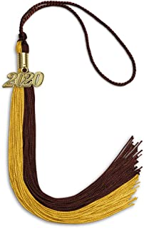 Double Color Tassel With Gold Date Drop
