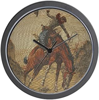 CafePress TGY Western Style Wall Clock (Cowboy Horse) Unique Decorative 10