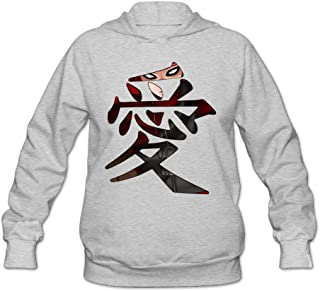 CYANY Japanese Comic Character Gaara Love Naruto Shippuden Women's Cute Hoodies Sweater Ash