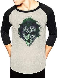 Batman Joker Art Face Camiseta de Manga Larga para Hombre
