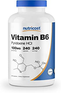 Nutricost Vitamin B6 (Pyridoxine HCl) 100mg, 240 Capsules